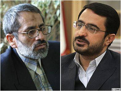 سعید مرتضوی (راست) و عباس جعفری دولتآبادی، دادستان پیشین و کنونی عمومی و انقلاب تهران