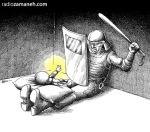کاریکاتور مانا نیستانی - لالایی