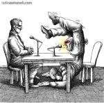 کاریکاتور مانا نیستانی - مذاکره