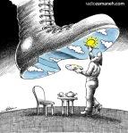 کاریکاتور مانا نیستانی - آسمان سرپناه