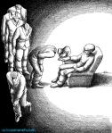 کاریکاتور مانا نیستانی - صف عاشقان