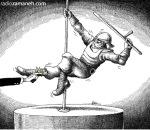 کاریکاتور مانا نیستانی - رقص اروتیک