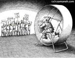 کاریکاتور مانا نیستانی - دور باطل !