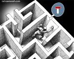 کاریکاتور مانا نیستانی - بن بست!